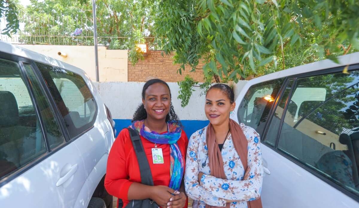 Nema and Somaya, UNITAMS women drivers